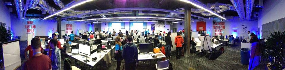 React Native developers at Facebook hackathon