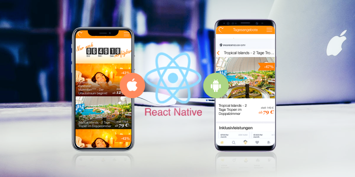 React Native application on different devices