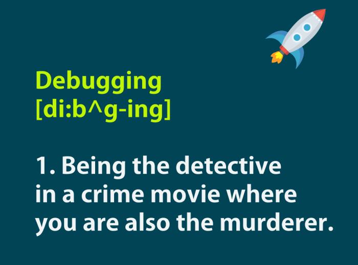 joke about debugging