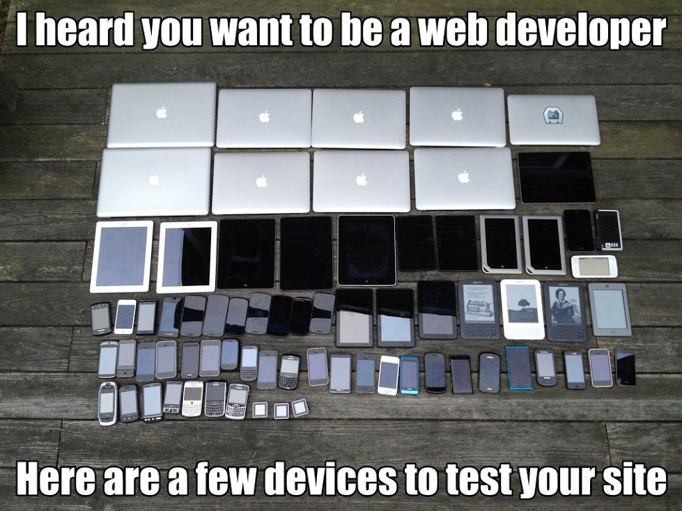 Joke about developers' testing tools