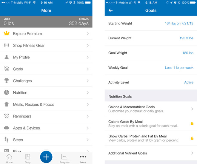 A Fitness app that tracks calories, breaks down ingredients, and logs activities