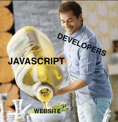 joke about javascript popularity