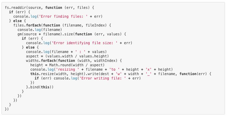 Node.js code