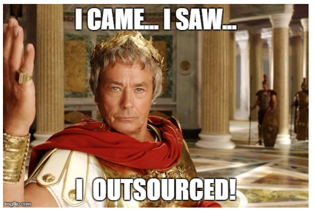Caesar about outsourcing