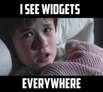 boy says i see widgets everywhere