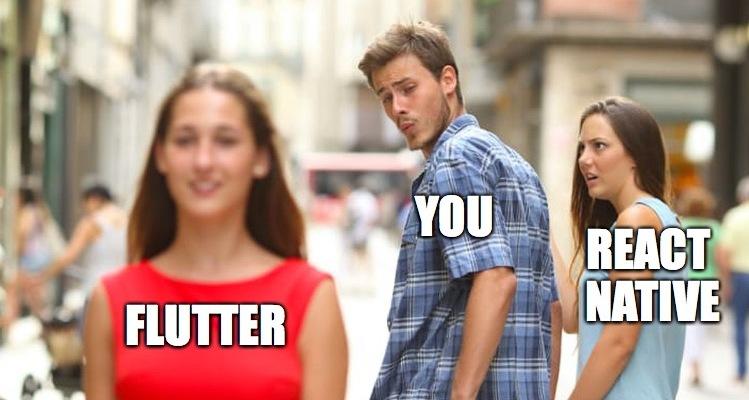 flutter vs react native mem
