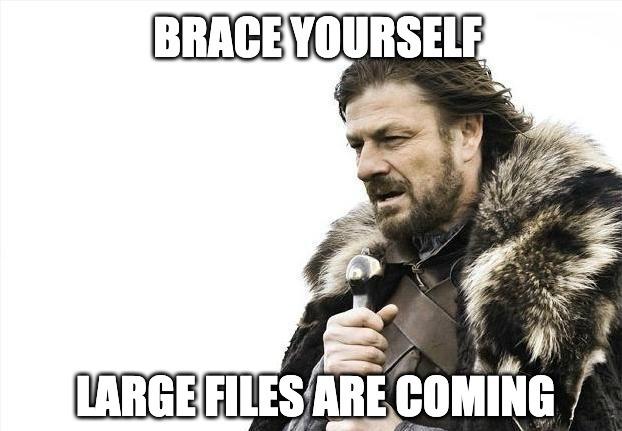 large files are coming mem