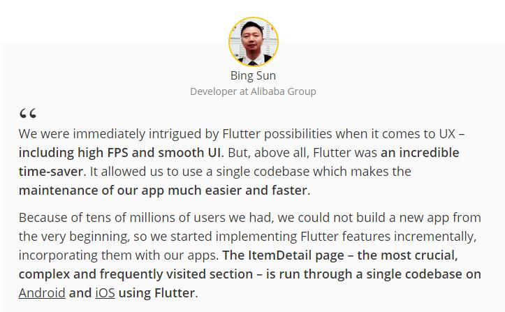 benefits of flutter app development